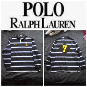 🐴VTG 90's NYC #7 Ralph Lauren Rugby polo(RARE)🐴